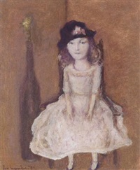a girl on a chair by theo swagemakers