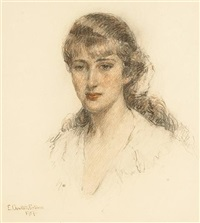 portrait of a young lady by e.charlton fortune