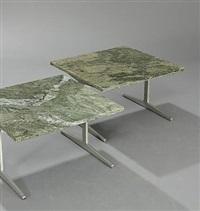 coffee tables (pair) by paul leidersdorff
