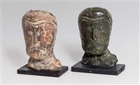 konvolut: zwei skulpturen by walter ritter