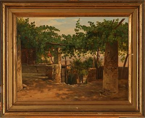 from a vineyard in olevano by peter johann p raadsig