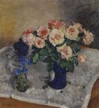 stillleben mit rosen by frans lejeune