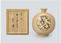 japanese quince and chrysanthemum (floral vase) by kiyoshi yamashita