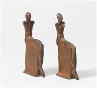 sitzendes paar (pair) by lothar fischer