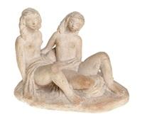 couple de figures féminines nues, couchées by theo dobelmann