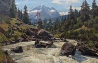 wildbach im suldental (ortlergebiet) by georg macco
