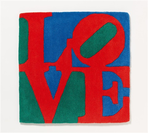 Love Rot Grun Blau Teppich By Robert Indiana On Artnet