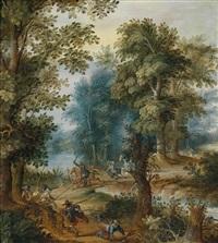 der überfall im wald by alexander keirincx and pieter snayers