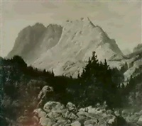 gegend zw. scharnitz u. seefeld in tyrol by johann friedrich stock