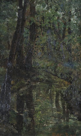 untitled forest scene by robert reid