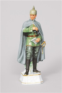 a figurine: scout with binoculars and map by alfred otto könig