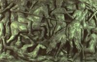 reliefplatte: knabenkampf by aurelio de felice