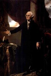 lansdowne portrait of george washington (after gilbert stuart) by a.j. goguille