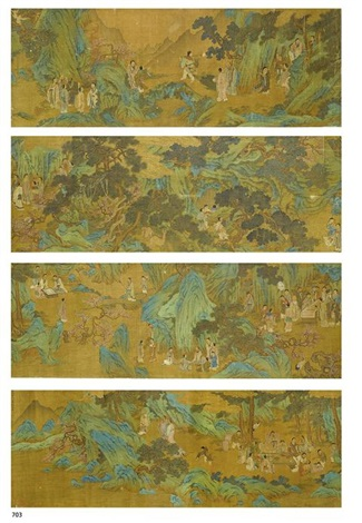 gathering of immortals and scholars by wang zhenpeng