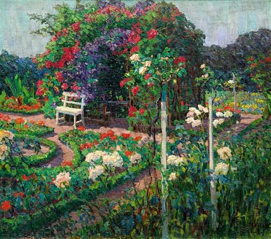 Bilder Blumengarten sommerlicher blumengarten by elisabeth tapper on artnet
