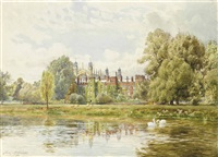 view of eton from the thames by fritz b. althaus