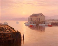 sunrise over the inlet by josef m. arentz