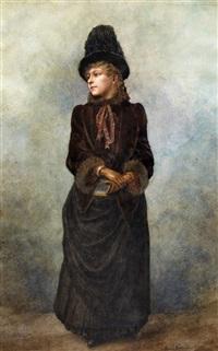 porträt einer eleganten dame by jean béraud