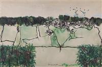 studio per un paesaggio con granoturco by francesco tabusso