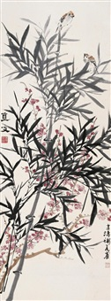bamboo and birds by ling wenyuan