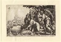 tobias fängt den fisch, pl.5 (from geschichte des tobias) by georg pencz