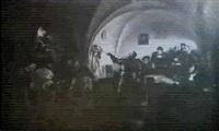 szene aus dem bauernkrieg by anton robert leinweber
