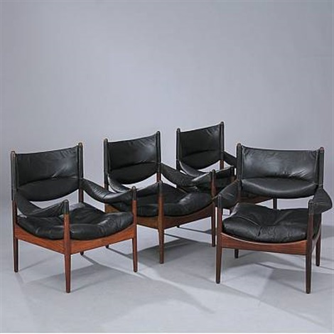 modus set of 4 easy chairs by kristian solmer vedel