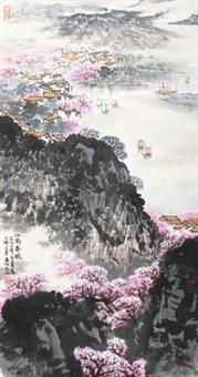 江南春晓 立轴 设色纸本 by song wenzhi