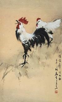 雄鸡鸣天下 by huang leisheng
