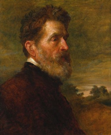 portrait of major general talbot by george frederick watts