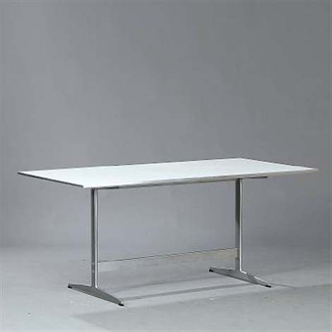 rectangular work table model d438 by arne jacobsen