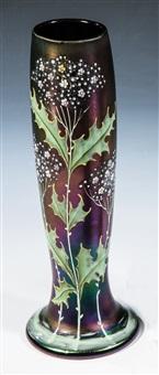 vase mit disteln by ferdinand von poschinger