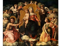 madonna mit kind, heiligem johannes dem täufer und heiliger katharina by anonymous-italian (16)