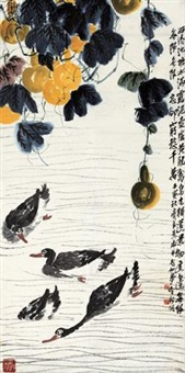 葫芦游鸭 by qi liangchi