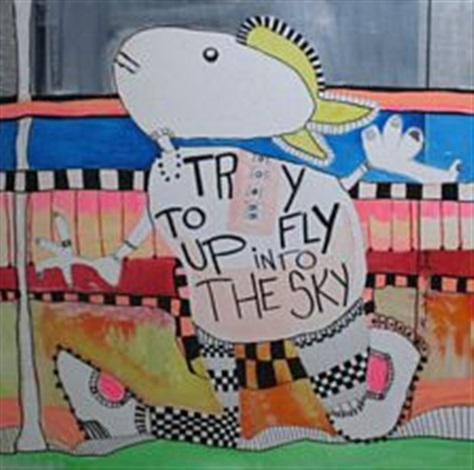 try to fly up into the sky by mikala valeur