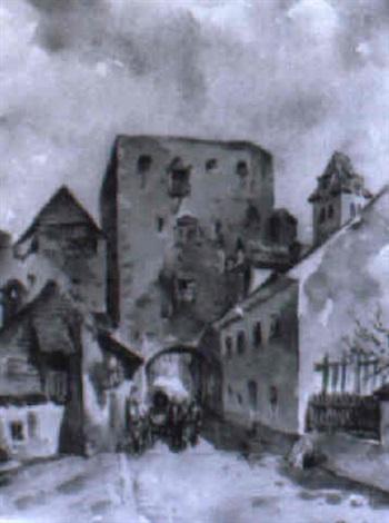 das stadttor von dürnstein by rudolf pichler
