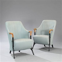 progetti easy chairs (pair) by umberto asnago