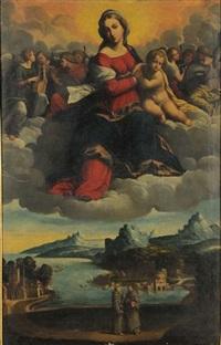 madonna in gloria by benvenuto tisi da garofalo