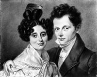 portrait eines ehepaares by h. becker