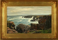 coastal scenery from bornholm by sigurd konstantin-hansen