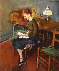 althea reading by louis bouché