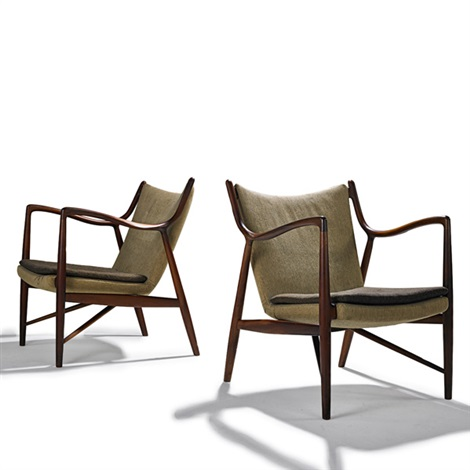 lounge chairs nv 45 pair by finn juhl