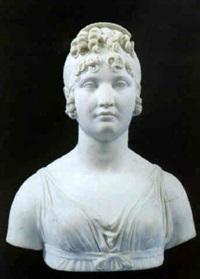büste der caroline bonaparte murat, königin von neapel by pietro fontana