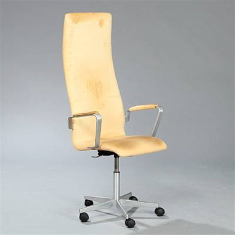 oxford high backed swivel chair by arne jacobsen
