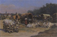 zigeunerlager bei sillistria (bulgarien) by josef kaspar correggio