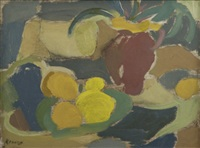still life of fruit (study) by elizabeth rivers