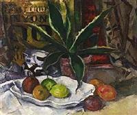 stilleben mit agave und obst by julius hess