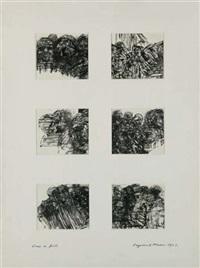 dans la foule (6 works on 1 sheet) by raymond mason
