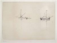 schiffe bei windstille by emil nolde