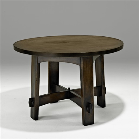 library table no 633 by gustav stickley